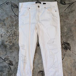 joe fresh distressed white jeans